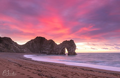 Waiting for the Star - And Happy Christmas x (Christine down south) Tags: durdledoor jurassiccoast predawn pinksky sunrise durdledoorkeyhole beach southcoast