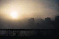 Murky (ewitsoe) Tags: autumn cityscape d750 december nikon sigma street erikwitsoe everydaylife urban warsaw air fog foggy smog smoggy light sunrsie river vistual buildings obscure bridge