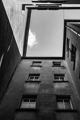 variable geometry (alain.winterberger) Tags: architecture geometrie geometry lines lignes noiretblanc noirblanc monochrome blackwhite nikon nb bnw batiment building 35mm black white lausanne urbain urban