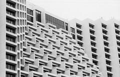 Architect (Thanathip Moolvong) Tags: epson v800 nikon s3 ilford delta 400 2 bw film architect building hotel