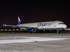Onur Air TC-OBK HAJ at Night (U. Heinze) Tags: aircraft airlines airways airplane flugzeug planespotting plane haj hannoverlangenhagenairporthaj eddv olympus omd em1markii 12100mm