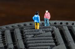 The conversation with Mr. NoName on the reverse shoe sole  [6M7A8535] (hallbæck) Tags: conversation mrnoname shoesole reverse figures skosål omvendt sko sål samtale konversation macro mh hørsholm denmark canoneos5dmarkiii ef100mmf28lmacroisusm mycanonandme nn tabletop toys h0 macrounlimited