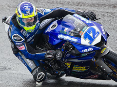 Eyes on the Prize (captures.in.time) Tags: bennets superbikes britishsuperbikes british sport motorsport scottishmotorsport motorbikes britishmotorsport knockhill fast dangerous danger speed bike road motorcycle bsb2019 yamaha blue motor rain track racing