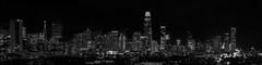 20th street skyline ll (pbo31) Tags: sanfrancisco city california holidays christmas season dark night black december 2019 boury pbo31 nikon d810 lights blackandwhite monochrome skyline salesforce transamerica hotel urban panorama large stitched panoramic doloresheights 80 traffic lightstream baybridge over