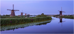 Some while ago at Kinderdijk (Rob Schop) Tags: kinderdijk archive bluehour blue calm softlight summer reflection zuidholland alblasserdam unesco panorama sigma30mm14 longexposure