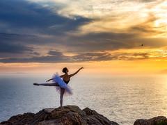 Emma (Eric Zumstein) Tags: emma ballerina pointdume clouds sunset sky ocean