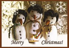 The Three Magi (Shastajak) Tags: proto huey louis snowmen knittedwithcrochethats photoshopcc lightroomcc layers textures blending filters skeletalmess snowflakes helios402f1585mm