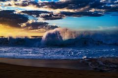 Shore Break (Errol_S) Tags: hawaii leicam10p shorebreak beach waves ocean clouds usa oahu northshore haleiwa thecountry keikisbeach sunset