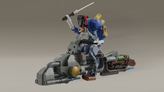 Light Cavalry (Space Glove) Tags: lego ldd mecabricks alien soldier steampunk