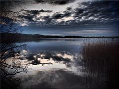 Clouds over the lake (Ostseetroll) Tags: deu deutschland geo:lat=5403230192 geo:lon=1070189300 geotagged pönitzamsee scharbeutz schleswigholstein see lake wasser water wolken clouds spiegelungen reflections olympus em5markii