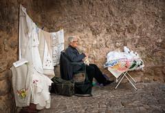 'Artisan' (Canadapt) Tags: óbidos woman artisan craft vendor sale street crochet needlepoint portugal canadapt
