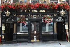 The Red Lion (just.Luc) Tags: pub bar café flowers bloemen fleurs blumen letters lettres windows fenster fenêtres vensters ramen mayfair london royaumeuni verenigdkoninkrijk unitedkingdom grootbrittanië grandebretagne greatbritain england angleterre engeland londen londres europa europe