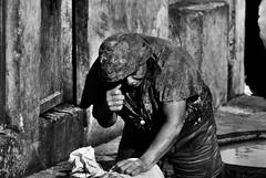 Chouara Tannery's Worker (4) (FraConti84) Tags: persone people peopleportrait portratit ritratto ritrattodistrada retrato streetcapture streetphotography biancoenero blackandwhite blackandwhitephotography candid chouaratannery fez fezmedina morocco africa canon hardwork bwphotography travelphotography documentary reportage