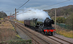 Most Famous Steam Locomotive in the World (garstangpost.t21) Tags: 4472 60103 flyingscotsman lner a3 britishrailways steam steamloco steamlocomotive southbound wcrc dull lancashire woodacre castleton eastlancashirerailway elr castletongf flickrunitedaward
