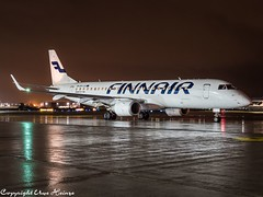 Finnair OH-LKI HAJ at Night (U. Heinze) Tags: aircraft airlines airways airplane planespotting plane flugzeug haj hannoverlangenhagenairporthaj night nightshot eddv olympus omd em1markii 12100mm