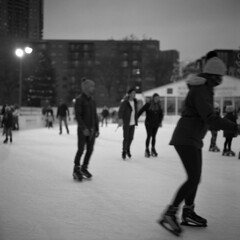 untitled (kaumpphoto) Tags: rolleiflex 120 tlr ilford hp5 street urban city skating motion exercise fun minneapolis ice rink action holidazzle