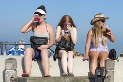 Deal seafront, 2019 (theo_vermeulen) Tags: deal kent coast england drinking smoking phone hat sea seaside sitting blue candid