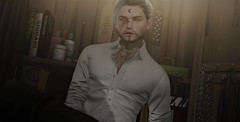 ᴡᴀɪᴛɪɴɢ (ѕєαи) Tags: sl second life fetish fapple shirt tattoo beard waiting kink sintiklia cold ash dirty stories complex conviction twc cute wetcat