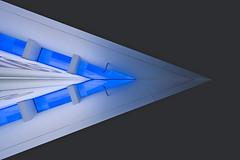 triangle (Blende1.8) Tags: glas glassroof glasdach geometrie geometry triangle dreieck modern modernarchitecture modernearchitektur ceiling contemporary contemporaryarchitecture neuesmuseumaachen blue blau abstract abstrakt wideangle nikon nikkor 1430mms nikonz z6 nikonz6