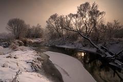 Winter landscape (fotoswietokrzyskie) Tags: carl zeiss 1635mm sony winter trees grass ice hoarfrost landscape water river snow slta99v mood
