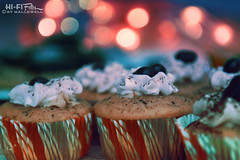holiday cupcakes (Hi-Fi Fotos) Tags: cupcake desert treat holiday christmas party food sweet pastry cake icing yummy bokeh dof nikkor 1755 28 nikon d7200 dx hififotos hallewell