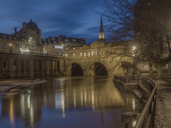 Don't Let Me Wander In The Dark Alone (Wizard CG) Tags: bath cathedral bridge britain british church city england great landmark long exposure medieval pulteney reflection river roman baths scenic somerset tourist travel destination uk unesco world heritage site united kingdom water outdoor wideangle arch architecture landscape building ngc trekker micro four thirds 43 m43 olympus mzuiko digital ed attraction dusk watercourse blue hour