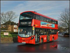 WHV50, West Wickham (Jason 87030) Tags: volvo bus red doubledecker 119 purleyway colonnades kent london route service wheels december 2019 roadside lighting color colour uk england design shot sony alpha a6000 lens tag flickr shoot session