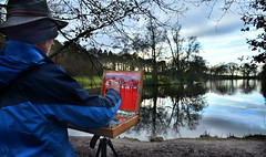 Weird Ian (PentlandPirate of the North) Tags: artist painter biddulphgrangecountrypark reflection staffordshire weird