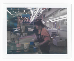 Elana Schlenker Printing (scottboms) Tags: npc195 polaroid film instantfilm analogresearchlab menlopark california designerinresidence printmaking expiredfilm polaroid669