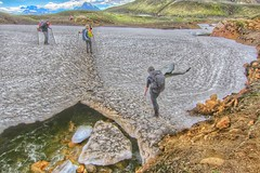 Iceland - Hikers crossing a Melted Glacier - Carefully (Onasill ~ Bill Badzo - New Format) Tags: outside design bar sunset beach waterski flower nature blue night white tree green flowers portrait art light snow dog cat sun clouds park winter landscape street summer sea city trees yellow lake people bridge family bird river pink house car food bw old macro music new moon orange garden rock trail hiking mountain sky onasill landmark historic hdr reykjavík iceland hikers glacier adventure tourist travel