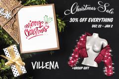 Christmas Sale & Gift @ Villena (.Stay Gold.) Tags: sale gift second life villena 2019 2020 christmas xmas holidays