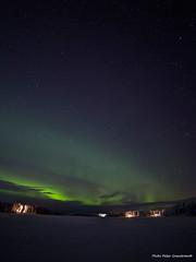 Northern light! (petergranström) Tags: approved northern lights norrsken lake sjö sky himmel stars stjärnor woods skog trees träd house hus snow snö