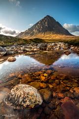 Spiegelung des Stob Dearg im Coupall Fluß (AnBind) Tags: schottland ereignisse fotoreise caledonia scotland 2019 highlands urlaub