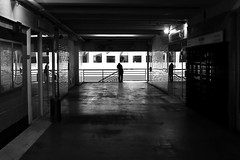 Between its reflections (pascalcolin1) Tags: paris13 homme man miroir mirrors reflets reflections lumière light photoderue streetview urbanarte noiretblanc blackandwhite photopascalcolin 50mm canon canon50mm
