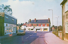 High Street, Scotter old postcard 1970s (Spottedlaurel) Tags: scotter oldpostcard 1970s toyota crown