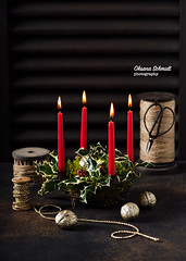 December 22nd... (sch.o.n) Tags: 4 advent arrangement background black branch bright burning candle candlelight candles celebration christmas copy dark december decor decoration decorative eve festive fire flame florist four gold golden green greetings handmade holiday home ilex light merry ornament red religion ribon rustic season seasonal space symbol tradition traditional tree winter wooden wreath