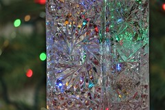 Reflections of the season (Jessie T*) Tags: flickrfriday glass christmaslights crystal decanter