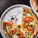 Pizza vegetariana at restaurant