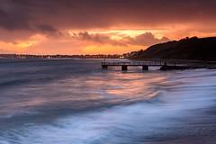 Bowleaze Cove in Weymouth this afternoon (Chris Jones www.chrisjonesphotographer.uk) Tags: dusk coastal town beach jetty stormy ocean sea seascape exposure long waves coastline coast jurassic portland cove bowleaze uk england west south dorset weymouth