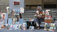 The painter, Florence, Tuscany, Italy (fkls) Tags: painter florence italy street streetphoto colors leica lumix panasoniclumix tuscany firenze