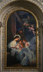 Birth of Jesus Christ (Wolfgang Bazer) Tags: geburt christi birth jesus christ merry christmas happy holidays side altar painting seitenaltar altarbild rudolf bacher breitenfelder pfarrkirche pfarre breitenfeld parish church josefstadt wien vienna österreich austria wiener secession jugendstil art nouveau
