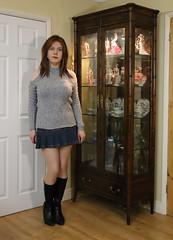 Cold shoulder (Joanne (Hay Llamas!)) Tags: transgender transwoman tg brunette tgirl cute uk brit british britgirl casual coldshoulder