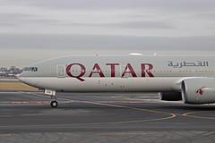 Qatar B777-3DZ (A7-BEN) - BOS (jebzphoto) Tags: airlines airline airliner airliners airplane airplanes aviation aircraft plane planes planespotting flight international airport airports kbos bos boston logan commercial qatar boeing 777