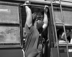 Standing room only on the bus. (Beegee49) Tags: street people public transport bus standing blackandwhite sony monochrome bw a6000 bacolod city philippines asia happyplanet asiafavorites