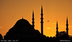 Silhouette Sunset (Sam Antonio Photography) Tags: sunset architecture istanbul landmark turkey mosque building historic minaret sky byzantine exterior famous ancient turkish constantinople travel islam religion europe ottoman blue historical culture tourism destination evening orthodox attraction islamic symbol architectural yellow scenic landscape minarets religious