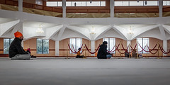 Quiet contemplation... (PhredKH) Tags: canoneos5dmkiii canonphotography fredkh london photosbyphredkh phredkh southall splendid temple worship serene tranquil worshiip sikhism contemplation reflection meditation people watching hall building religion reverence ef50mmf18stm 50mm prime