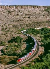 ATSF 849 East at Crozier Canyon, AZ (thechief500) Tags: atsf bnsf croziercanyon railroads seligmansubdivision az usa santaferailway arizona