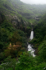 From gods to gods.... (Moving Iris) Tags: waterfalls waterfall water mountain hills westernghats naturephotography landscapes landscape monsoon green greenery
