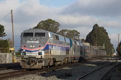 Heritage on the Starlight (imartin92) Tags: emeryville california amtrak passenger train coaststarlight railroad railway ge generalelectric p42dc genesis locomotive