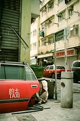 (a.pierre4840) Tags: olympus om2sp zuiko 28mm f2 35mmfilm kodak kodakportra160 colourfilm colorfilm urban decay kowloon hongkong taxi abandoned streetphotography dof depthoffield